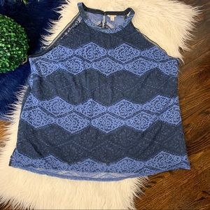 [Cato] Women's Lace Overlay Tank   Size 26/28W